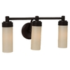 allen + roth 3-Light Heritage Bronze Bathroom Vanity Light