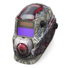 Lincoln Electric Auto Darkening Variable Shade White and Red Welding Helmet