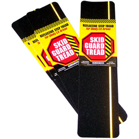 SKID GUARD 6-in x 24-in Black with Yellow Reflective Stripe Safety Tape