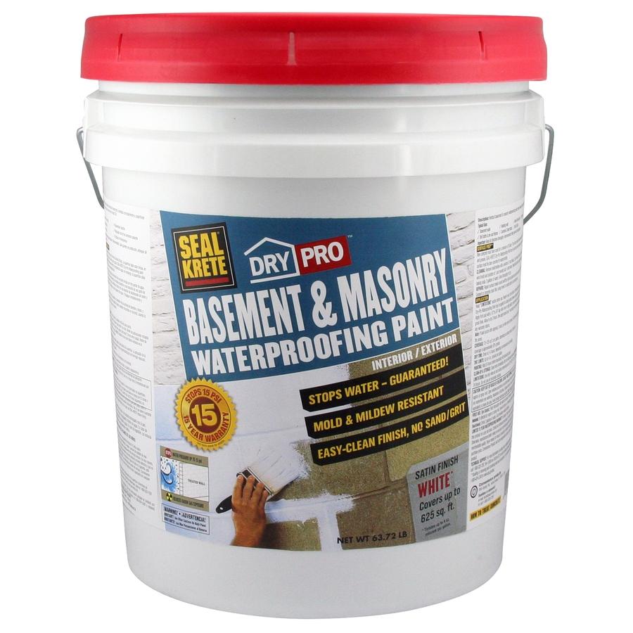 Basement Moisture Barrier Paint: Shop Seal-Krete Basement & Masonry Waterproofing Paint 5 Gallon At Lowes.com