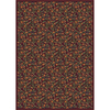 Milliken 7-ft 8-in x 10-ft 9-in Garnet Latin Rose Area Rug