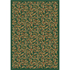 Milliken Latin Rose 92-in x 64-in Rectangular Green Transitional Area Rug