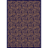 Milliken Latin Rose 129-in x 92-in Rectangular Blue Transitional Area Rug