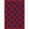 Milliken Fergus 64-in x 46-in Rectangular Red/Pink Transitional Area Rug