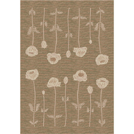 Milliken Poppy Rectangular Cream Transitional Tufted Area Rug (Common: 5-ft x 8-ft; Actual: 5.33-ft x 7.66-ft)
