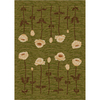 Milliken Poppy 64-in x 46-in Rectangular Green Transitional Area Rug