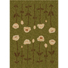 Milliken Poppy 129-in x 92-in Rectangular Green Transitional Area Rug
