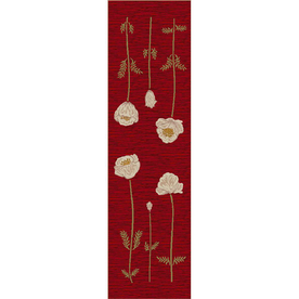 Milliken Red Tufted Runner (Common: 2-ft x 8-ft; Actual: 2.083-ft x 7.666-ft)