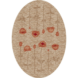 Milliken 5-ft 4-in x 7-ft 8-in Linen Poppy Area Rug