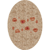 Milliken Poppy 64-in x 46-in Oval Cream/Beige/Almond Transitional Area Rug