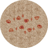 Milliken Poppy Multicolor Round Indoor Tufted Area Rug (Common: 8 x 8; Actual: 91-in W x 91-in L)