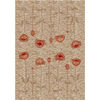 Milliken Poppy 32-in x 46-in Rectangular Yellow Floral Accent Rug