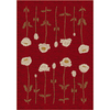 Milliken Poppy 32-in x 46-in Rectangular Red/Pink Floral Accent Rug