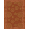 Milliken 7-ft 8-in x 10-ft 9-in Coral Wabi Area Rug