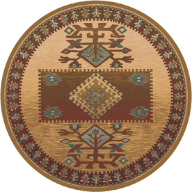 Milliken Ahvas Multicolor Round Indoor Tufted Area Rug (Common: 8 x 8; Actual: 91-in W x 91-in L)