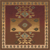 Milliken Ahvas 158-in x 129-in Square Brown/Tan Transitional Area Rug