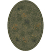 Milliken Vintage 64-in x 46-in Oval Green Transitional Area Rug