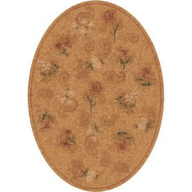 Milliken Vintage Oval Cream Transitional Tufted Area Rug (Common: 8-ft x 11-ft; Actual: 7.66-ft x 10.75-ft)