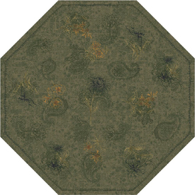 Milliken Vintage Octagonal Green Transitional Tufted Area Rug (Common: 8-ft x 8-ft; Actual: 7.58-ft x 7.58-ft)