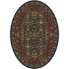 Milliken Sandakan Oval Black Transitional Tufted Area Rug (Common: 4-ft x 6-ft; Actual: 3.83-ft x 5.33-ft)