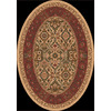 Milliken Sandakan Oval Brown Transitional Tufted Area Rug (Common: 5-ft x 8-ft; Actual: 5.33-ft x 7.66-ft)