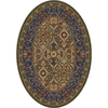 Milliken Sandakan 91-in x 91-in Oval Green Transitional Area Rug