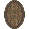 Milliken Sandakan 32-in x 46-in Oval Green Accent Rug