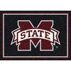 Milliken Collegiate Team Spirit Rectangular Multicolor Sports Tufted Area Rug (Common: 5-ft x 8-ft; Actual: 5.333-ft x 7.66-ft)