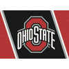 Milliken NCAA College Spirit Multicolor Rectangular Indoor Tufted Sports Throw Rug (Common: 2 x 4; Actual: 24-in W x 46-in L)