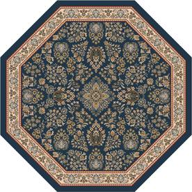 Milliken Halkara Multicolor Octagonal Indoor Tufted Area Rug (Common: 8 x 8; Actual: 91-in W x 91-in L)