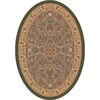 Milliken Halkara 92-in x 64-in Oval Green Transitional Area Rug