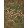 Milliken Rain Forest 64-in x 46-in Rectangular Green Transitional Area Rug