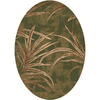 Milliken Rain Forest 64-in x 46-in Oval Green Transitional Area Rug
