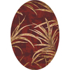 Milliken Rain Forest Oval Brown Transitional Tufted Area Rug (Common: 5-ft x 8-ft; Actual: 5.33-ft x 7.66-ft)