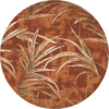 Milliken 7-ft 7-in Round Fall Orange Rain Forest Area Rug