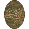 Milliken Rain Forest Multicolor Oval Indoor Tufted Area Rug (Common: 8 x 10; Actual: 92-in W x 129-in L)