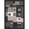 Milliken Bloques 32-in x 46-in Rectangular Black Accent Rug