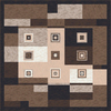 Milliken Bloques Multicolor Square Indoor Tufted Area Rug (Common: 8 x 8; Actual: 91-in W x 91-in L)