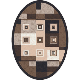 Milliken Bloques Multicolor Oval Indoor Tufted Area Rug (Common: 4 x 6; Actual: 46-in W x 64-in L)