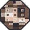 Milliken Bloques Multicolor Octagonal Indoor Tufted Area Rug (Common: 8 x 8; Actual: 91-in W x 91-in L)