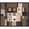 Milliken 10-ft 9-in x 13-ft 2-in Brown Leather Bloques Area Rug
