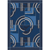 Milliken Modernes 32-in x 46-in Rectangular Blue Accent Rug
