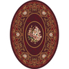Milliken Montfluer Oval Red Floral Tufted Area Rug (Common: 8-ft x 10-ft; Actual: 7.66-ft x 10.75-ft)