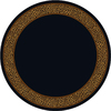 Milliken Lots Of Spots 91-in x 94-in Round Black Transitional Area Rug