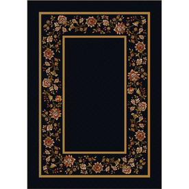Milliken Chatsworth Rectangular Black Floral Tufted Area Rug (Common: 4-ft x 6-ft; Actual: 3.83-ft x 5.33-ft)