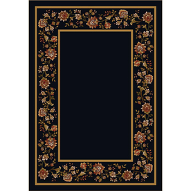 Milliken Chatsworth Rectangular Black Floral Tufted Area Rug (Common: 5-ft x 8-ft; Actual: 5.33-ft x 7.66-ft)
