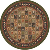 Milliken Pristina 91-in x 94-in Round Green Transitional Area Rug