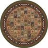 Milliken Pristina Multicolor Round Indoor Tufted Area Rug (Common: 8 x 8; Actual: 91-in W x 91-in L)