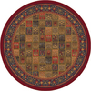 Milliken 7-ft 7-in Round Midnight Red Pristina Area Rug