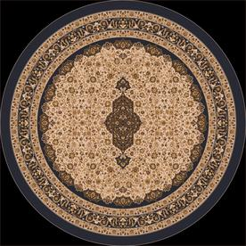 Milliken Tiraz Multicolor Round Indoor Tufted Area Rug (Common: 8 x 8; Actual: 91-in W x 91-in L)